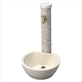 トーシン 水栓柱 アン ぺブル SC-UN-PB-OP 立水栓+水栓パン(受け)+蛇口セット