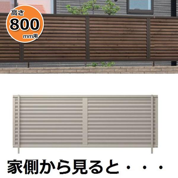 三協アルミ 形材フェンス シャトレナM3型 2008 本体 『目隠しルーバー アルミフェンス 柵 高さ H800mm用』
