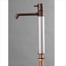 オンリーワン デザイン水栓/マニル 金古美めっき ロング TK4-1LCS ヘアライン