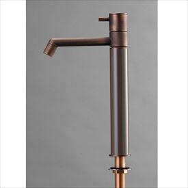 オンリーワン デザイン水栓/マニル 金古美めっき ロング TK4-1LCDB ダークブラウン