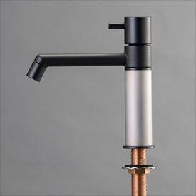 高級ブランド オンリーワン デザイン水栓/マニル ブラックめっき ノーマル TK4-1NKS ヘアライン:エクステリアのプロショップ キロ-エクステリア・ガーデンファニチャー