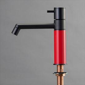 オンリーワン デザイン水栓/マニル ブラックめっき ノーマル TK4-1NKR ブライトレッド