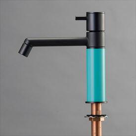 オンリーワン デザイン水栓/マニル ブラックめっき ノーマル TK4-1NKT ターコイズブルー