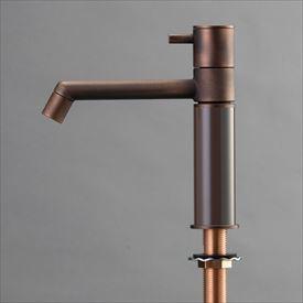オンリーワン デザイン水栓/マニル 金古美めっき ノーマル TK4-1NCDB ダークブラウン