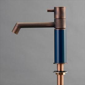 オンリーワン デザイン水栓/マニル 金古美めっき ノーマル TK4-1NCN ネイビー