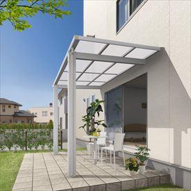 三協アルミ 独立式テラス レボリューD 2.5間×4尺 600タイプ/関東間/標準柱(H24)/2連結 ポリカ屋根