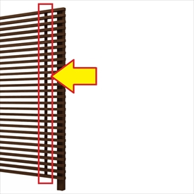 YKKAP ルシアス スクリーンフェンスオプション S01型用 たて骨ユニット T160用 『切詰用部品』 『アルミフェンス 柵』 2017年6月から新仕様 木目カラー