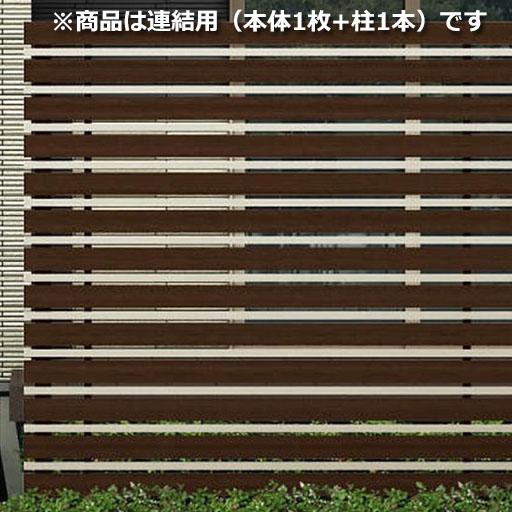 YKKAP ルシアス スクリーンフェンス S05型 連結用セット T160J (横板格子+細横格子) 『アルミフェンス 柵』 2017年6月から新仕様 複合カラー