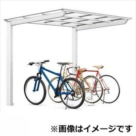 リクシル TOEX ネスカF ミニ 基本 18-22型 ロング柱(H25) 熱線吸収FRP板 DRタイプ 『リクシル』 『自転車置場 サイクルポート 自転車屋根』