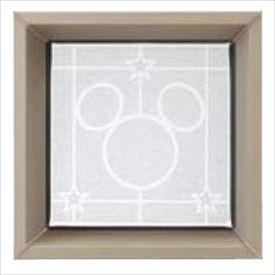 リクシル 新日軽 ディズニー ブロック飾り マドリードタイプ ミッキーA型 形材窓 『おしゃれ』