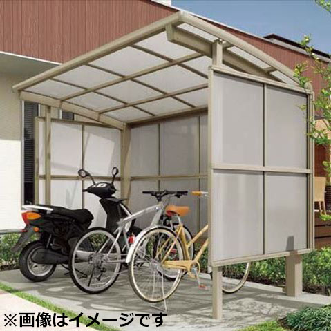 リクシル TOEX サイクルポート フーゴR パーク 29-21型 パネル高さ H:1600 熱線吸収ポリカ板 『リクシル』 『サビに強いアルミ製 家庭用 自転車置き場 屋根』