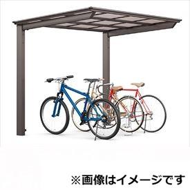 サイクルポート リクシル TOEX フーゴF ミニ 基本 18-22型 ロング柱(H25) 熱線吸収ポリカ板 『リクシル』 『サビに強いアルミ製 家庭用 自転車置き場 屋根』 アルミ形材色