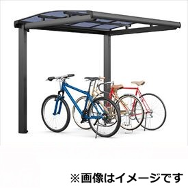 サイクルポート リクシル TOEX フーゴA ミニ 基本 21-29型 ロング柱(H25) ポリカ板 『リクシル』 『サビに強いアルミ製 家庭用 自転車置き場 屋根』