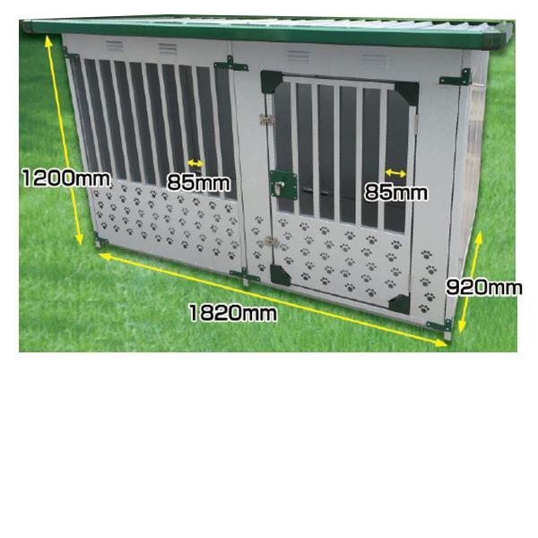 メタルテック ドックハウス 犬小屋 DFD-1 床有 0.5坪 『ガルバリウム鋼板で頑丈です』『屋外用 犬小屋』