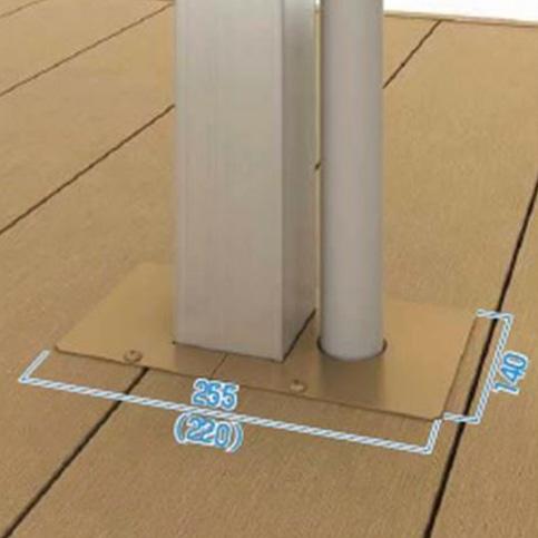 YKKAP リウッドデッキ200 オプション デッキ納まり用テラス柱カバー 樋穴あり×1/なし×1のセット 『後付は不可 ウッドデッキ 人工木 材料』
