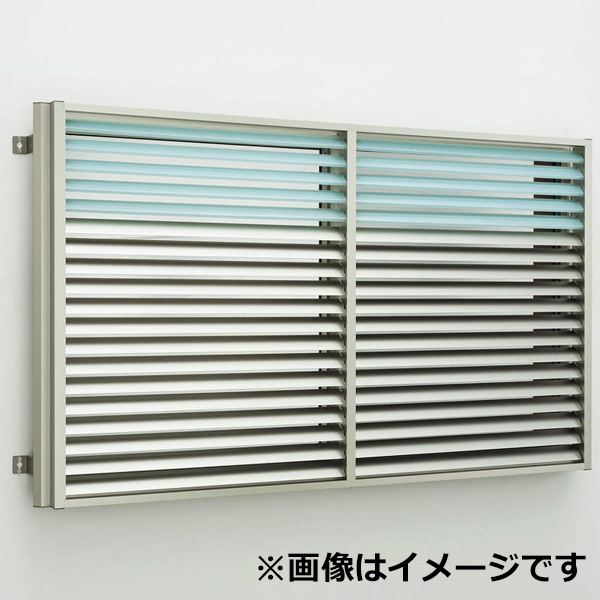YKKAP 多機能ポリカ+アルミルーバー 引違い窓用本体 標準 幅1420mm×高さ800mm 1MG-13307 上下同時可動 『取付金具は別売』