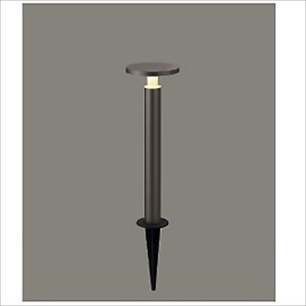 リクシル 12V 美彩 ガーデンポールライト H400 LED スパイクタイプ 『リクシル ローボルトライト』 『エクステリア照明 ライト』 灯具:オータムブラウン/ポール:オータムブラウン
