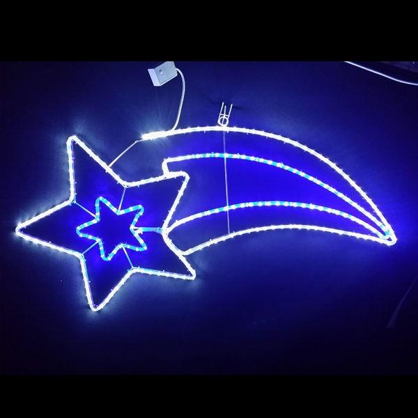 コロナ産業 イルミネーション 流れ星 白・青色 LEDスターライトモチーフ L2DM504 『イルミネーションライト』