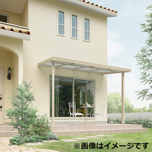 リクシル シュエット 600タイプ テラスタイプ 関東間 間口W 1間×出幅D 4尺 F型・熱線吸収ポリカ屋根 『テラス屋根』