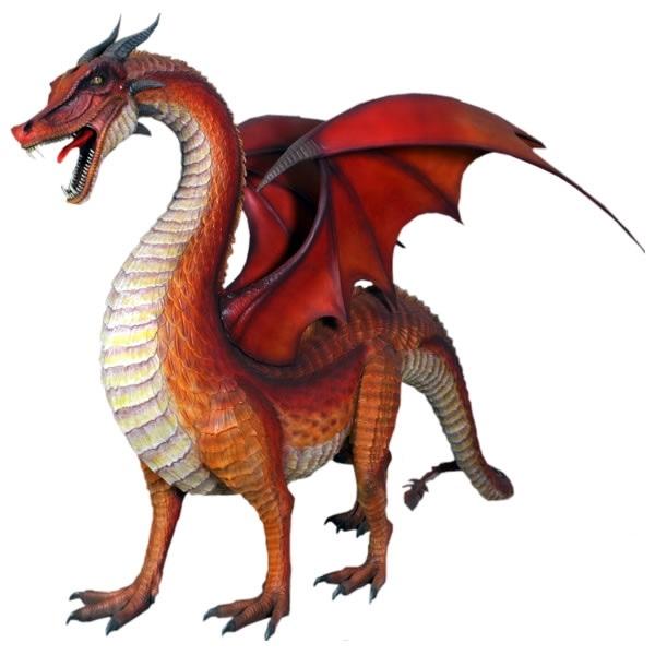FRP ドラゴン/ Standing Standing Dragon 『恐竜オブジェ 博物館オブジェ ドラゴン/ 店舗・イベント向け』, IVORIC MOMENT:6cc1119d --- acessoverde.com