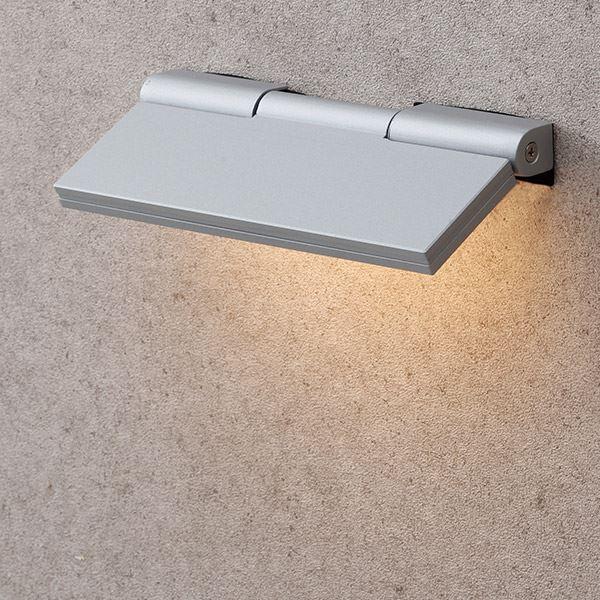 タカショー 表札灯(ローボルト) エクスレッズ フラットウォールライト1型 HBA-D04S #61798200 *LED交換不可 『エクステリア照明 ライト』 シルバー