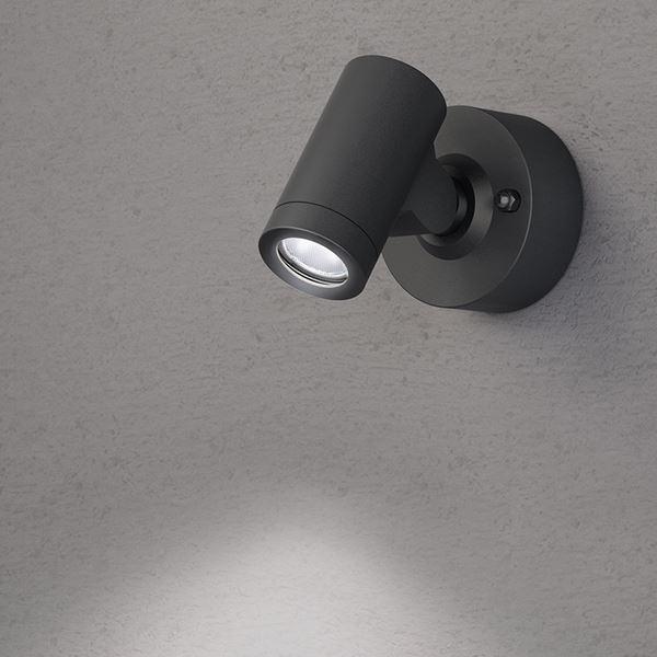 タカショー ウォールライト(ローボルト) エクスレッズ スポットウォールライト1型 HBA-W06K #73028500 *LED交換不可 『エクステリア照明 ライト』 ブラック/LED色(白)