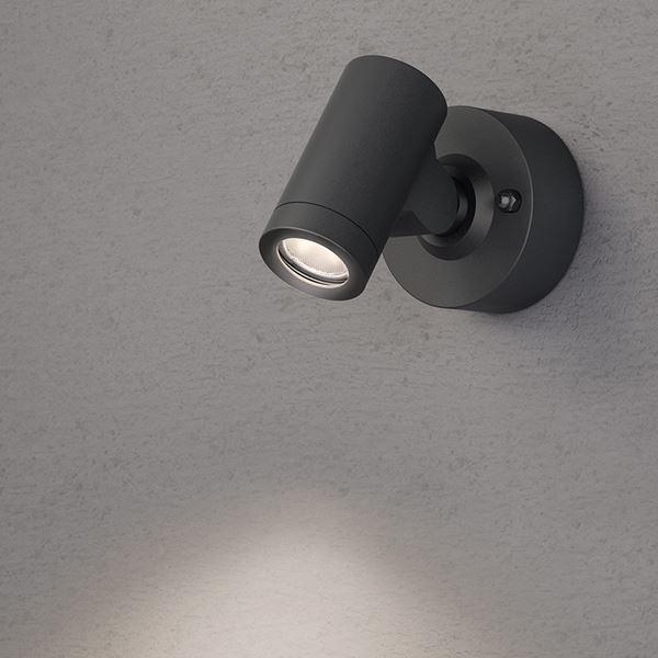 タカショー ウォールライト(ローボルト) エクスレッズ スポットウォールライト1型 HBA-D06K #73022300 *LED交換不可 『エクステリア照明 ライト』 ブラック/LED色(電球色)