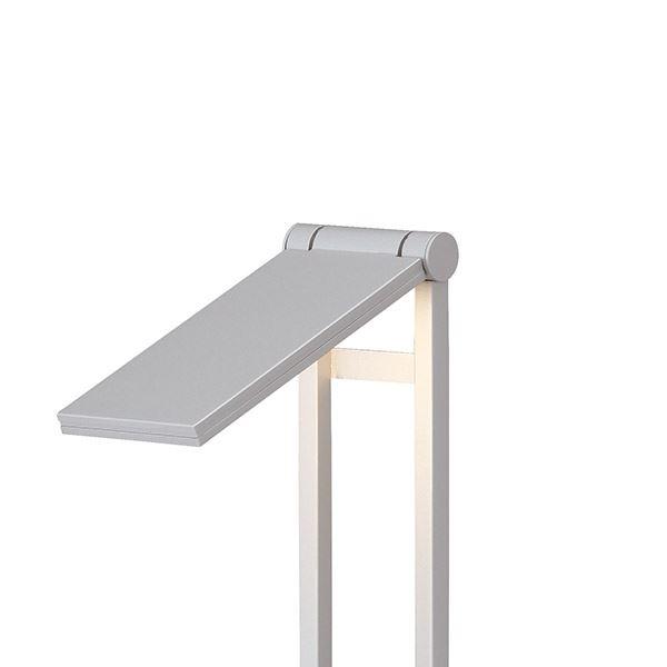 タカショー フットポールライト(ローボルト) エクスレッズ フラットポールライト1型 HBC-D08S #61815600 *LED交換不可 『エクステリア照明 ライト』 シルバー/LED色(電球色)