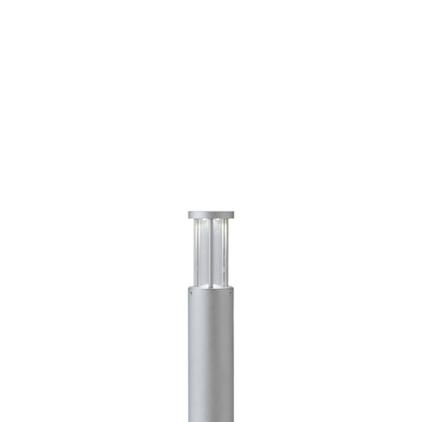 タカショー ポールライト(ローボルト) エクスレッズ ポールライト8型 HBC-W24S #71556500 *LED交換不可 『エクステリア照明 ライト』 シルバー/LED色(白)
