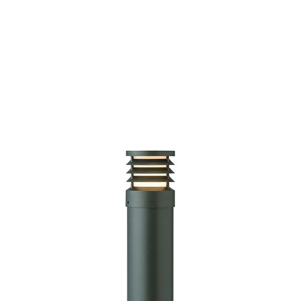タカショー ポールライト(ローボルト) エクスレッズ ポールライト16型 ルーバー HBC-D34C #71523700 『エクステリア照明 ライト』 チャコールグリーン
