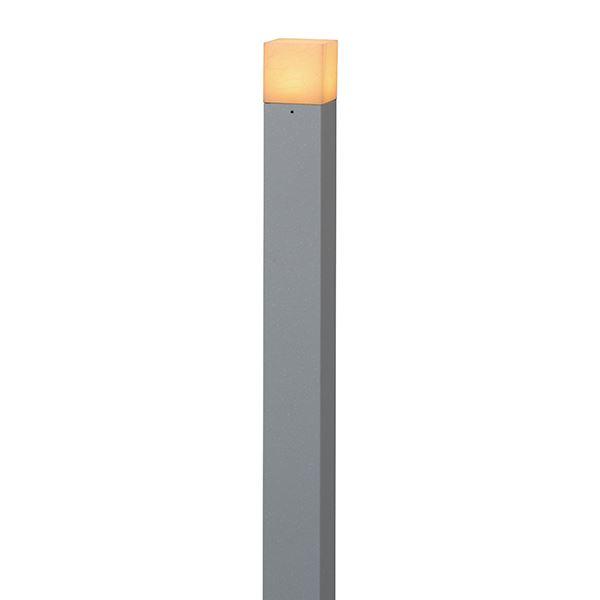 タカショー モダン和風ライト(ローボルト) 粋 ポールライト1型(ほのあかり) HGB-H07N #71621000 『エクステリア照明 ライト』 銀ねず