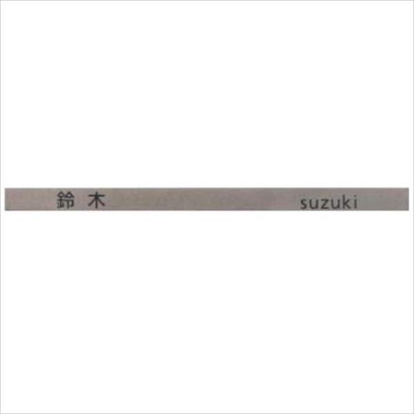 エクスタイル ユニサスポスト用表札 口金タイプ専用 ステンシルバー色用 『表札 サイン 戸建』