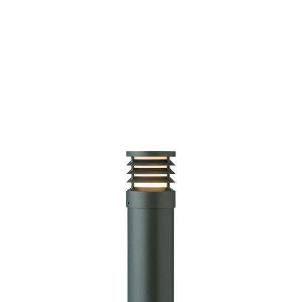 タカショー ポールライト(100V) スタイルポールライト 20型 ルーバー HFD-D52C #71694400 『エクステリア照明 ライト』 チャコールグリーン