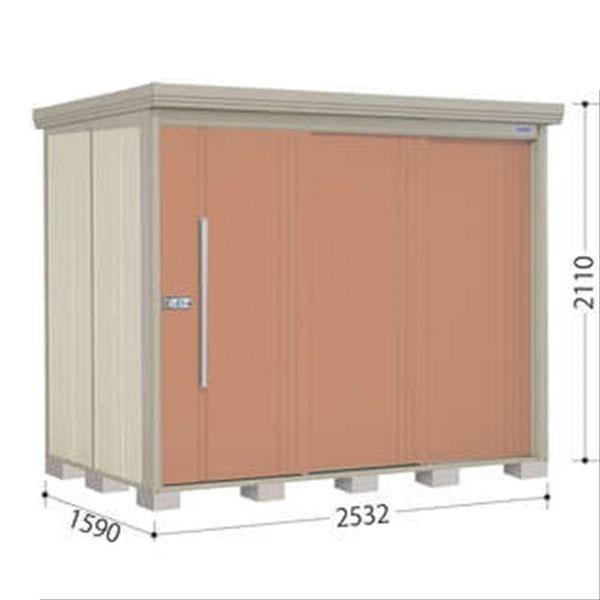 タクボ物置 ND/ストックマン 側面棚 ND-SZ2515Y 多雪型 結露減少屋根 『追加金額で工事も可能』 『屋外用中型・大型物置』 トロピカルオレンジ