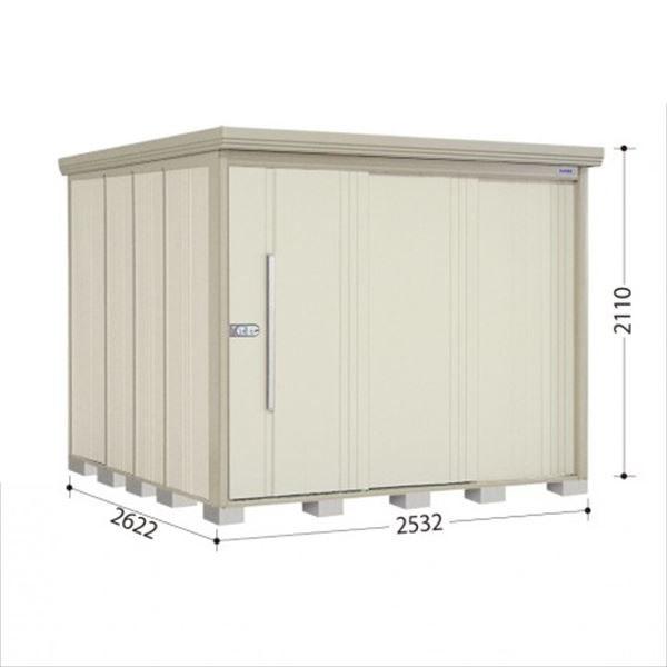 タクボ物置 ND/ストックマン 側面棚 ND-S2526Y 多雪型 標準屋根 『追加金額で工事も可能』 『屋外用中型・大型物置』 ムーンホワイト