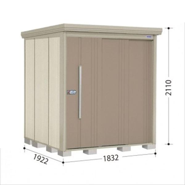 タクボ物置 ND/ストックマン 側面棚 ND-1819Y 一般型 標準屋根 『追加金額で工事も可能』 『屋外用中型・大型物置』 カーボンブラウン