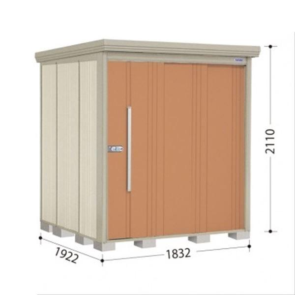 タクボ物置 ND/ストックマン 側面棚 ND-1819Y 一般型 標準屋根 『追加金額で工事も可能』 『屋外用中型・大型物置』 トロピカルオレンジ