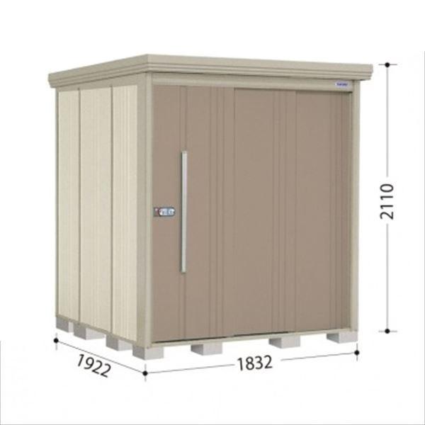 タクボ物置 ND/ストックマン 側面棚 ND-S1819Y 多雪型 標準屋根 『追加金額で工事も可能』 『屋外用中型・大型物置』 カーボンブラウン