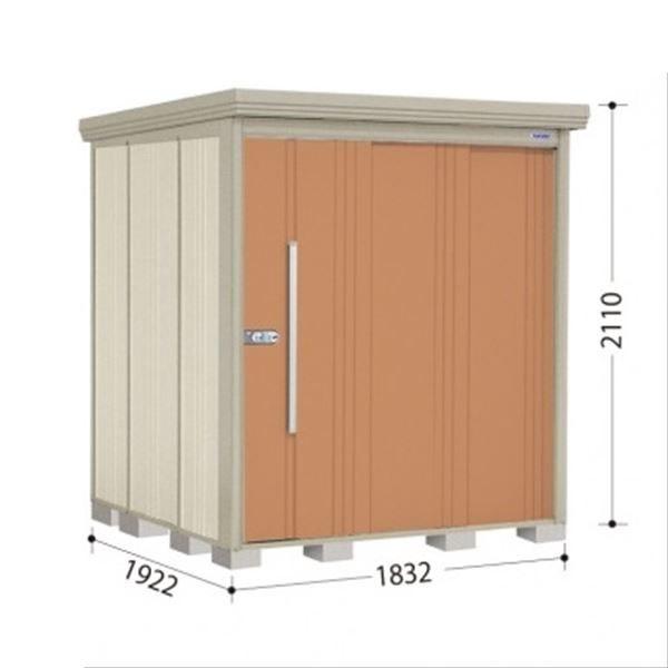 タクボ物置 ND/ストックマン 側面棚 ND-S1819Y 多雪型 標準屋根 『追加金額で工事も可能』 『屋外用中型・大型物置』 トロピカルオレンジ
