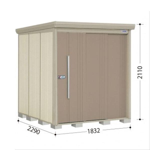 タクボ物置 ND/ストックマン 側面棚 ND-1822Y 一般型 標準屋根 『追加金額で工事も可能』 『屋外用中型・大型物置』 カーボンブラウン