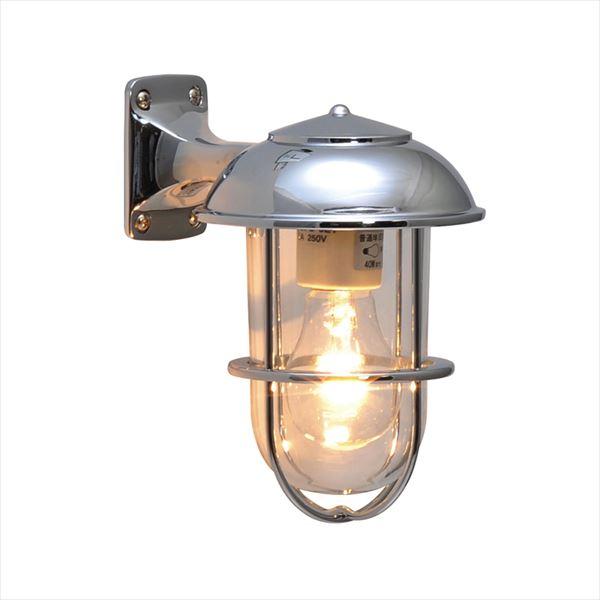 オンリーワン 真鍮製ポーチライト BR5000 CL クリアーガラス クローム仕上 GI1-700351 『エクステリア照明 マリンライト』
