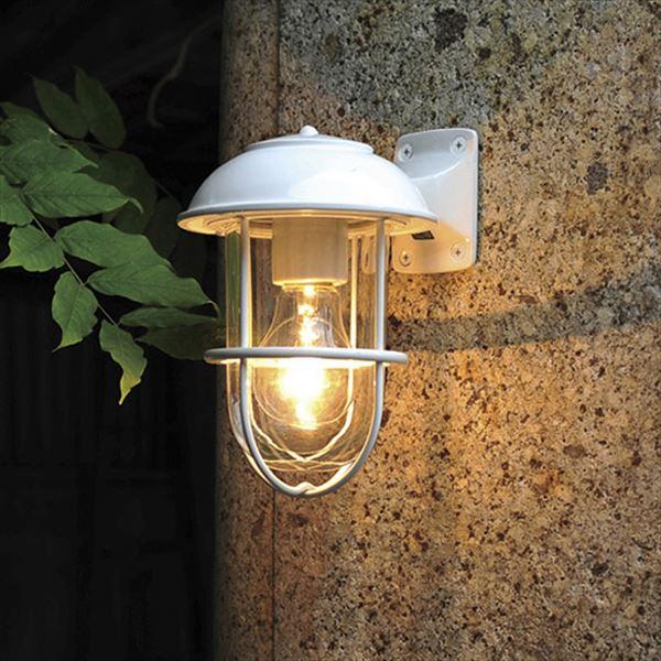 オンリーワン 真鍮製ポーチライト BR5000 WH CL クリアーガラス 白塗装仕上 GI1-700345 『エクステリア照明 マリンライト』