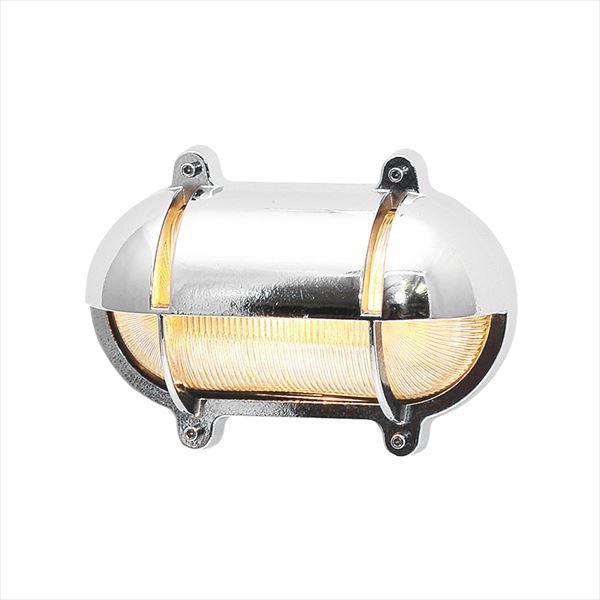 オンリーワン 真鍮製ポーチライト BH2435 CR CL LE クリアーガラス(LED仕様) クローム仕上 GI1-700225 『エクステリア照明 マリンライト』