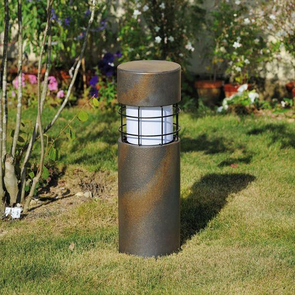 オンリーワン 新 信楽のあかり 円柱 茶 (LED照明:電球色) GA1-LED33 『エクステリア照明 信楽焼ライト』