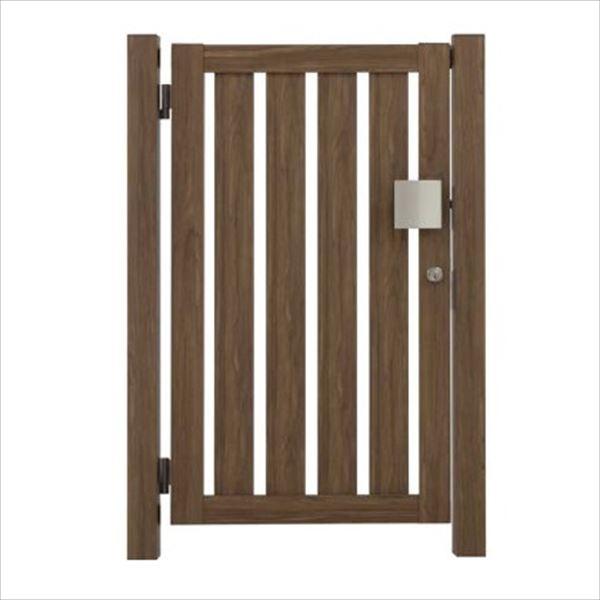 タカショー エバーアートウッド門扉 こだわり板 縦型 柱仕様 W700×H1000 片開き プッシュプル錠 左吊元