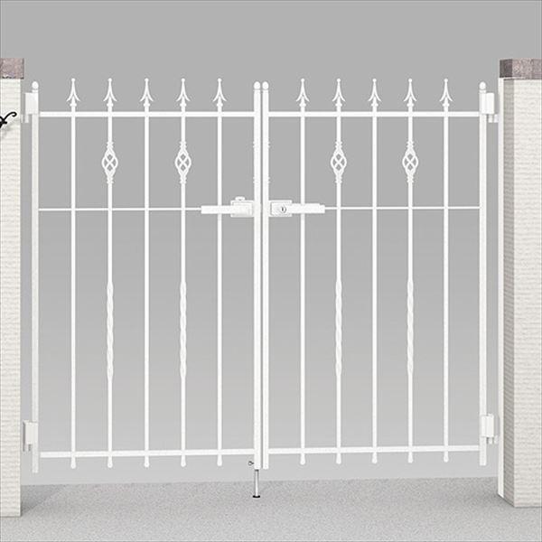 豪奢な リクシル TOEX ラフィーネ門扉2型 柱使用 09-10 両開き:エクステリアのプロショップ キロ-エクステリア・ガーデンファニチャー