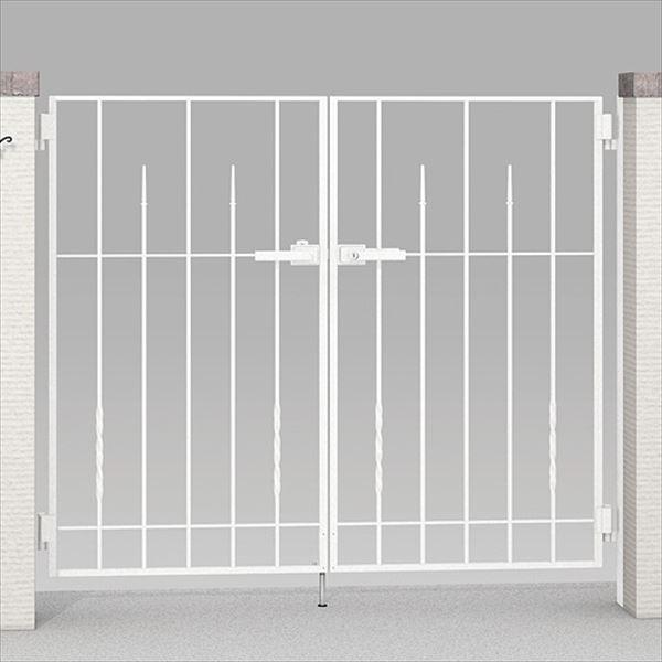 リクシル TOEX ラフィーネ門扉3型 柱使用 08-10 両開き