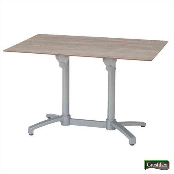 送料無料【タカショー】フランスの洗練されたデザインテーブル タカショー グロスフィレックス エコフィックス テーブル120×80 GRS-T09MG #32860400 『ガーデンテーブル』 ムーングレー
