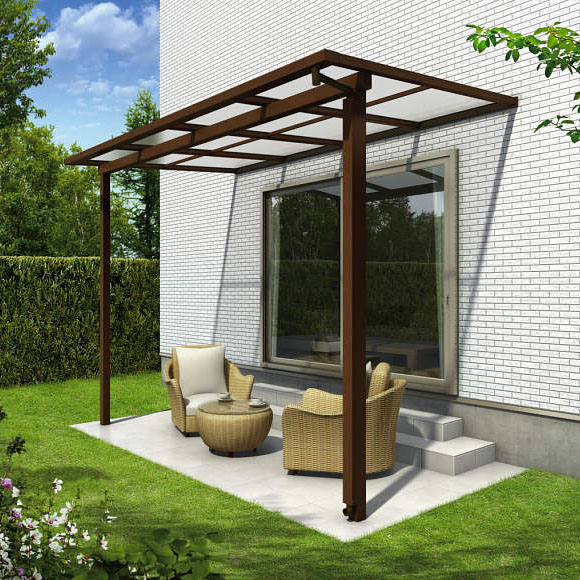 YKK ap サザンテラス フレームタイプ 関東間 1500N/m2 4.5間×7尺 (3連結) ポリカ屋根