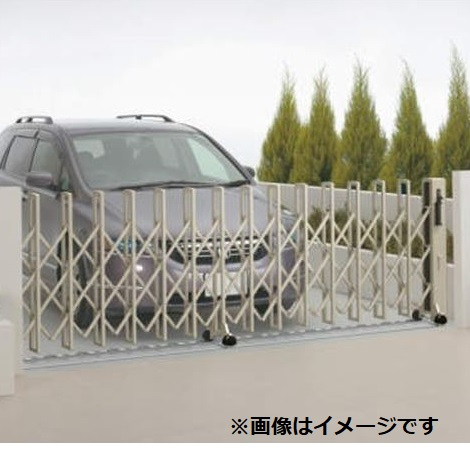 四国化成 ニューハピネスHG 木調タイプ レールタイプ 片開き 650S H10 『カーゲート 伸縮門扉』